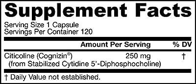 Jarrow Formulas Citicoline, Supports Brain Function, 250 mg, 120 Caps