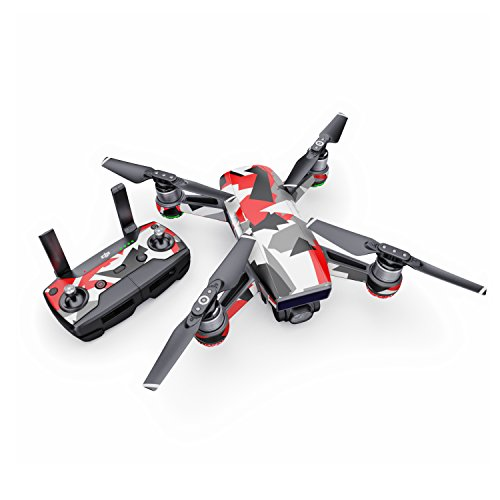 Signal Decal for Drone DJI Spark Kit - Includes Drone Skin, Controller Skin and 1 Battery Skin