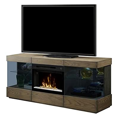 Dimplex Axel Electric Fireplace TV Stand with Acrylic in Raked Sand