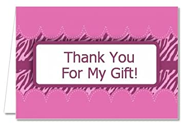 Amazon Com Zebra Print Baby Pink Baby Shower Thank You