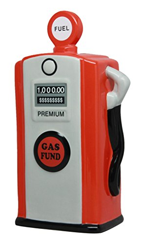 Gas Pump Bank (PTC Pacific Giftware Ceramic Gas Pump Savings Piggy/Coin/Money Bank, Red)