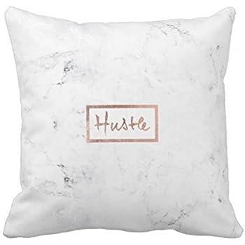 Amazon Decorative Throw Pillow Cover Cushion White Marble