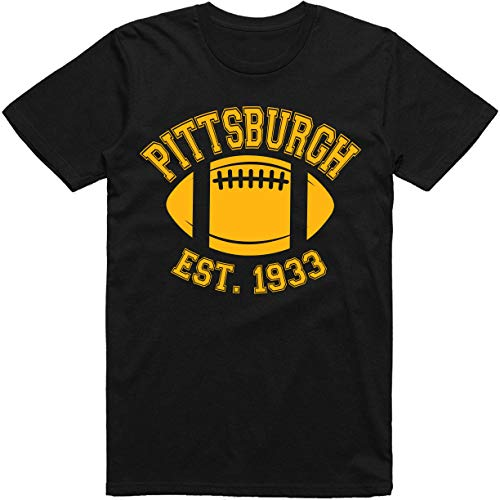 Pittsburgh City Vintage Football Est. 1933 Classic T-Shirt (L, Pittsburgh Black) for $<!--$19.95-->
