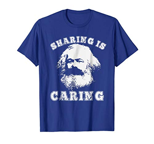 Varsity Style Socialism Karl Marx Sharing is Caring T-Shirt (Karl Marx And The Contradictions Of Capitalism Summary)