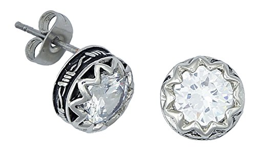 - Crystal Barbed Wire Stud Earrings (ER1307CZ)