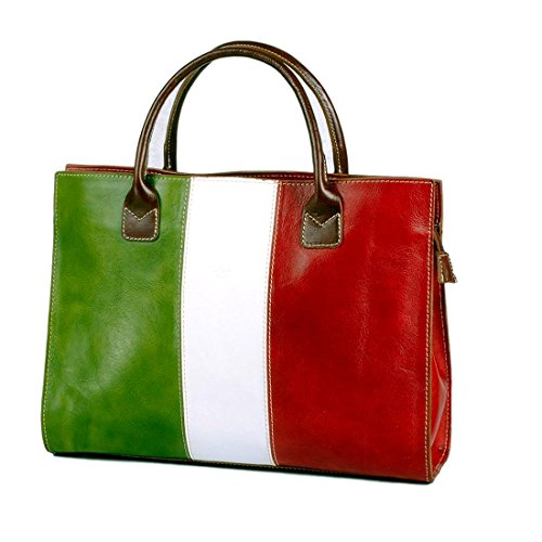 MICHELANGELO Genuine Leather Calf-Skin Italy - Shopper Bag Italy Leather 40x11 H30 cm -