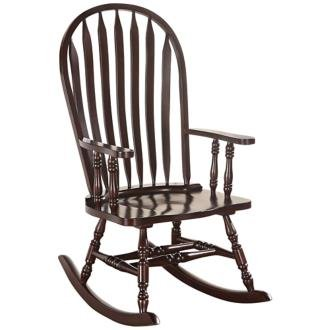 Kloris Cappuccino Wood Windsor Rocking Chair