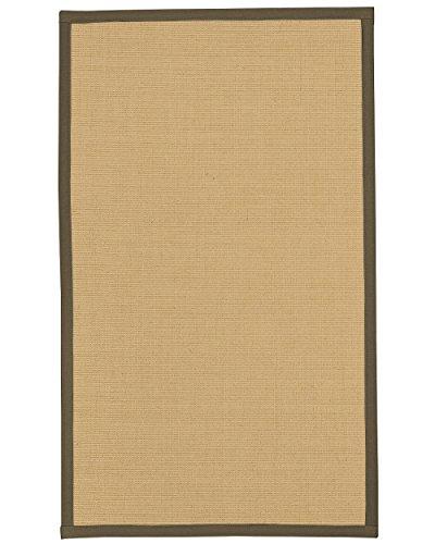"Price comparison product image NaturalAreaRugs Deco Custom Sisal Rug 2' 6"" x 10' Fossil Border"