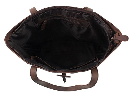 Roohkasu Women's Vintage Style Leather Work Tote Shoulder Bag (UPGRADED 2.0) by Roohkasu (Image #4)