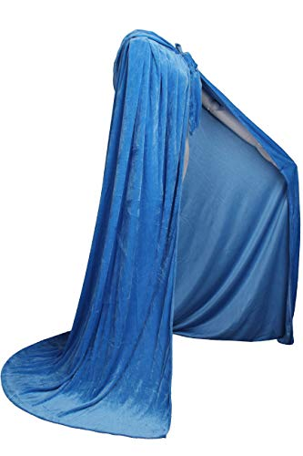 (LuckyMjmy Unlined Velvet Medieval Renaissance Hooded Cloak Cape (Large,)