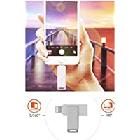 U-Disk USB Flash Drive, Free Up Memory Space on iPhone/iPad/Android (32GB Silver)