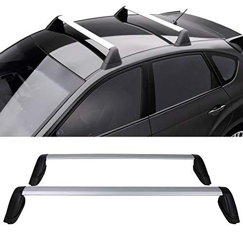 Cross Bars Fits 2008-2011 Subaru Impreza 2008-2014 WRX | Factory Style Silver Roof Rack Cross Bars By IKON MOTORSPORTS | 2009 2010 2012 2013