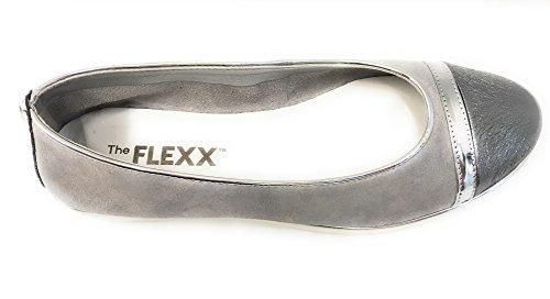 The Flexx Women's Ballet Flats Silver Silver GupWEtl5o