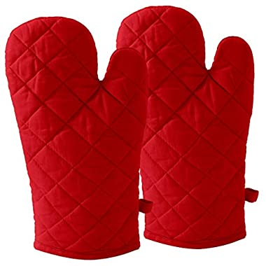DM COOL COTTON - Oven Gloves Set (Red) (2 Oven Gloves) (Heat Proof) 6