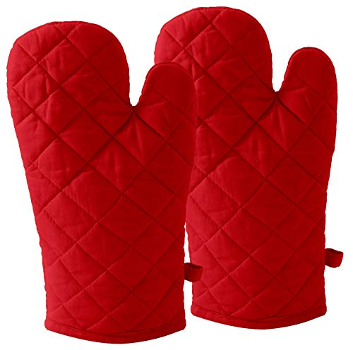 DM COOL COTTON - Oven Gloves Set (Red) (2 Oven Gloves) (Heat Proof) 1
