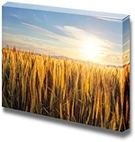 Beautiful Scenery Landscape Sunset Over Wheat Field Home Deoration Wall Decor