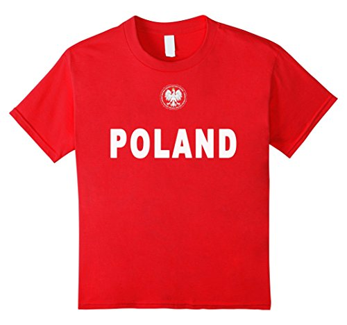 Kids Poland Eagle Coat of Arms National Soccer Jersey Shirt 8 Red - National Coat Of Arms