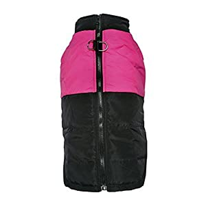 LESYPET Cold Weather Vest for Small and Medium Dogs with Safe Guard Zipper Closure Windproof, Pink S