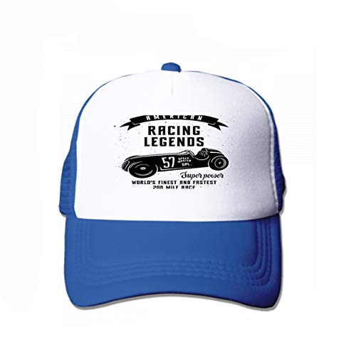 Classic Cotton Dad Hat Adjustable Plain Cap Custom Denim Baseball Cap for Adult Racing car Speed Racer Graphic American Race Vintage Poster Blue