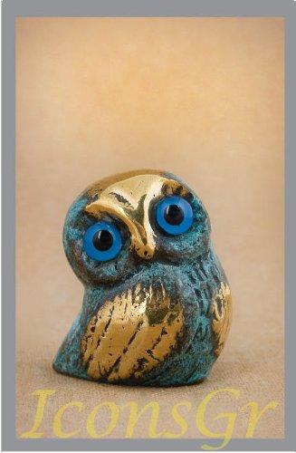 Ancient Greek Bronze Museum Statue Replica of Owl 549