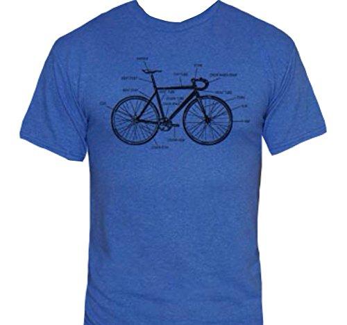 Bike Anatomy T-Shirt-Funny Bicycle Riding shirt