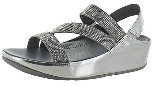 Fitflop Mujeres Crystall Z-strap Sandal Pewter