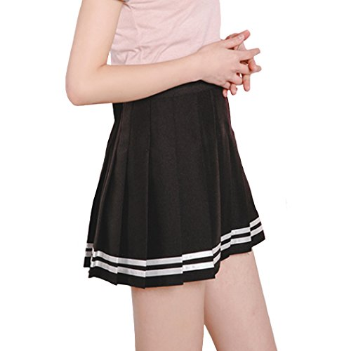 Minuoyi Sports High Waist with Underpants Tennis School Cheerleader Pleated Skirt