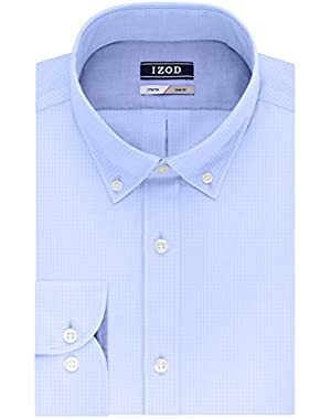 Men's Dress Shirts Slim Fit Stretch Gingham