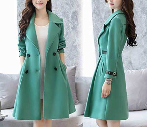 Winter In Coat Warm Ladies For And Cotton Women Wool Autumn Ab Green Winter g1vvZ