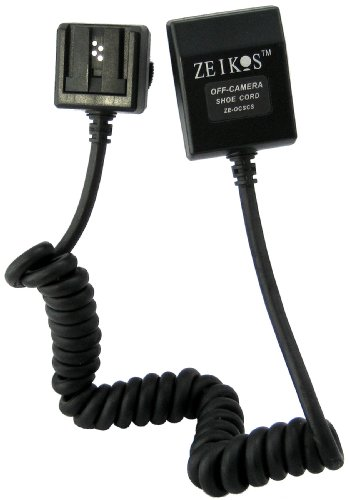 Zeikos TTL-Off-Camera Flash Cord for Sony A900, A700, A380, A350, A330, A300, A230, A200, DSLR-A100 DSLR Cameras & Sony HVL-F60AM, HVL-F58AM, HVL-F56AM, HVL-F43AM & HVLF42AM