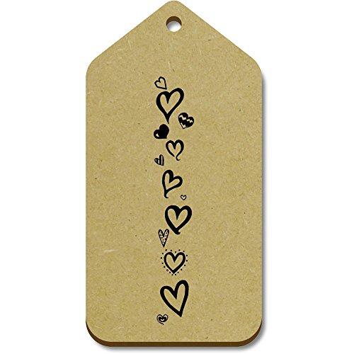 Azeeda Tag Large 10 regalo 99mm bagaglio 51mm 'Bordo X tg00014847 cuore' AqATrw