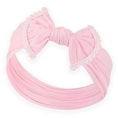 POMPOM BOW FAVORITE BABY HEADBANDS - Baby Headband For Newborn Headbands and Baby Girls Headbands