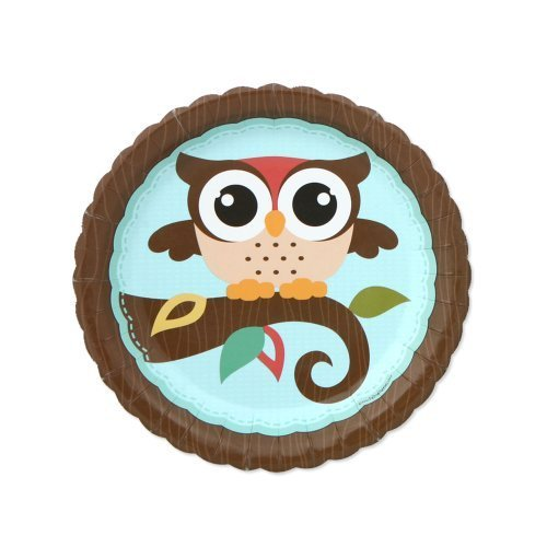 Big Dot of Happiness Owl - Baby Shower or Birthday Party Dessert Plates (8 count)