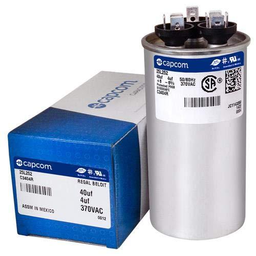 4 uf MFD x 370 VAC # 25L252 Genteq Dual Round Capacitor 40 GE Industrial