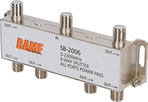 BAMF 6-Way Coax Cable Splitter Bi-Directional MoCA 5-2300MHz by BAMF Manufacturing
