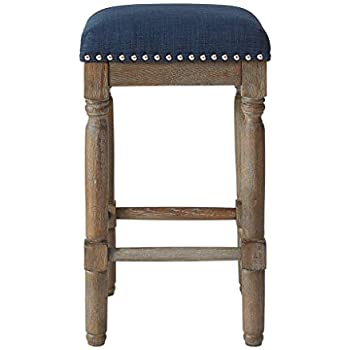 Amazon Com Madison Park Stool Set Of 2 See Below Navy
