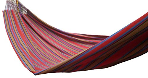 "Double (63"") Ethical, True Colombian Hammock. RED - ETHICAL, STRONG, COMFORTABLE, TRUE COLOMBIAN HAMMOCK Sizes: 63"" X 102"", Length overal: 165"", Hold: 440lbs 100% soft colourfast cotton, MORE suspension strings, exceptionally tear-proof edges - patio-furniture, patio, hammocks - 41cnDXI8JOL -"