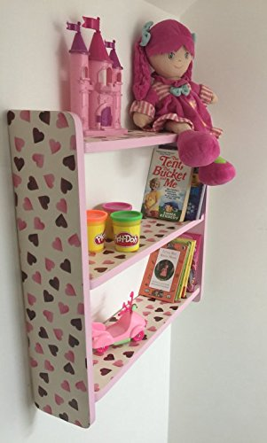 Awe Inspiring Woodiquechic 60Cm Girls Bedroom Pink Love Hearts Shelves Download Free Architecture Designs Intelgarnamadebymaigaardcom