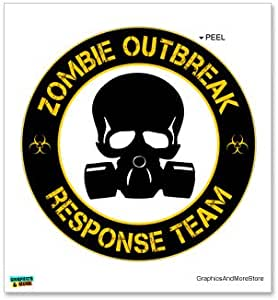 Amazon.com: Zombie Outbreak Reponse Team Yellow on Black ...