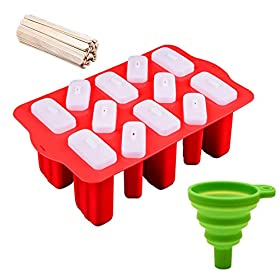 Ice Cube Molds And Trays Sets With Lid Silicone Material Ice Sphere Maker Stackable Grade &9.310.2 Cm Natural Stick & Green Silicone Shell Collapsible Funnel For Cocktail Juices Drinks