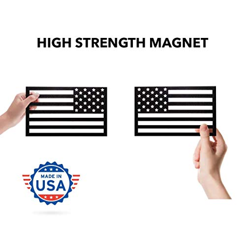 American Flag Magnet Cut-Out - Set of 2 Tactical Car Decal Magnets Made in USA ()