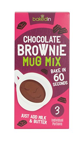 Bakedin 3pk Mug Cakes Belgian Chocolate Brownie Mix