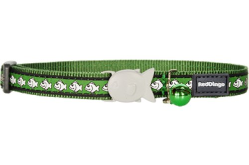 Red Dingo Reflective Cat Collar, One Size Fits All, Green, My Pet Supplies