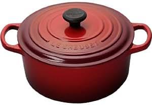 Le Creuset Signature Enameled Cast-Iron 1-Quart Round French (Dutch) Oven, Cerise (Cherry Red)