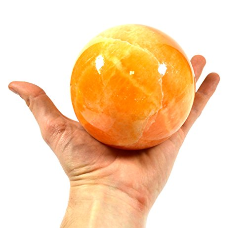 Rejuvenating Orange Stone Crystal Aura Sphere, 4