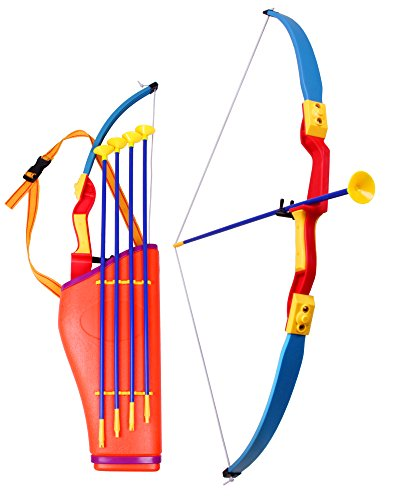 Pfeil und Bogen Set für Kinder mit Köcher zum Bogenschießen inkl. 4 Pfeile 76 cm