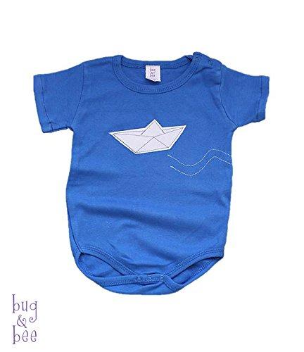 Paper Boat Onesie, Origami Boat Bodysuit, Baby Boy Onesie Short or Long Sleeves