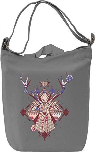 Triangle Deer Borsa Giornaliera Canvas Canvas Day Bag| 100% Premium Cotton Canvas| DTG Printing|