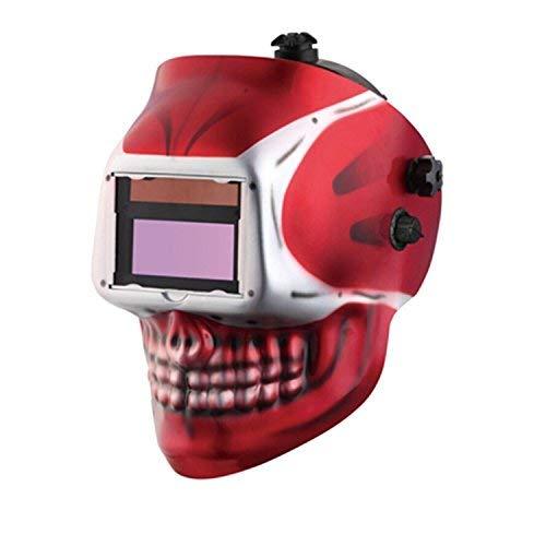Doitpower SKULL designed Auto-Darkening Welding Helmet 9-13 Variable shade with Replaceable Battery 2 Arc Sensor