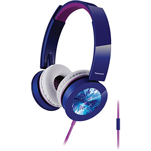 - Panasonic RP-HXS400M-A Sound Rush Plus On-Ear Headphones, Blue (Certified Refurbished)